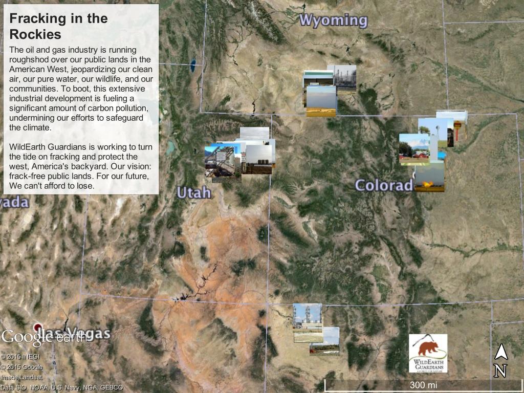 fracking tour map