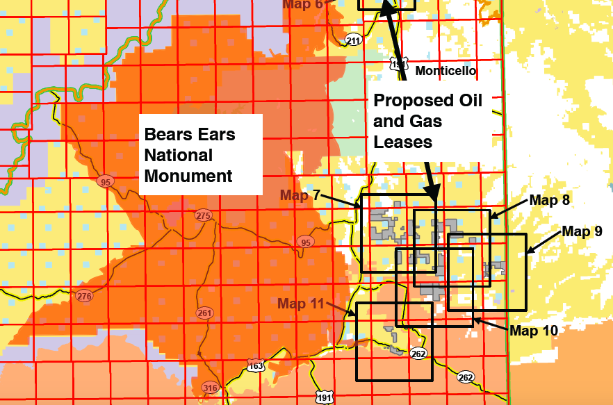 screenshot Bears Ears and oil and gas