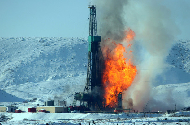 gas rig fire
