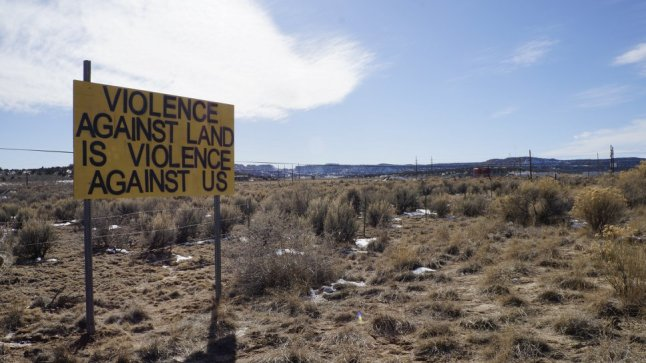 "Greater Chaco Employs Guerilla ""Warning"" Signs to Combat Fracking https://www.frackoffchaco.org/blog/signs"